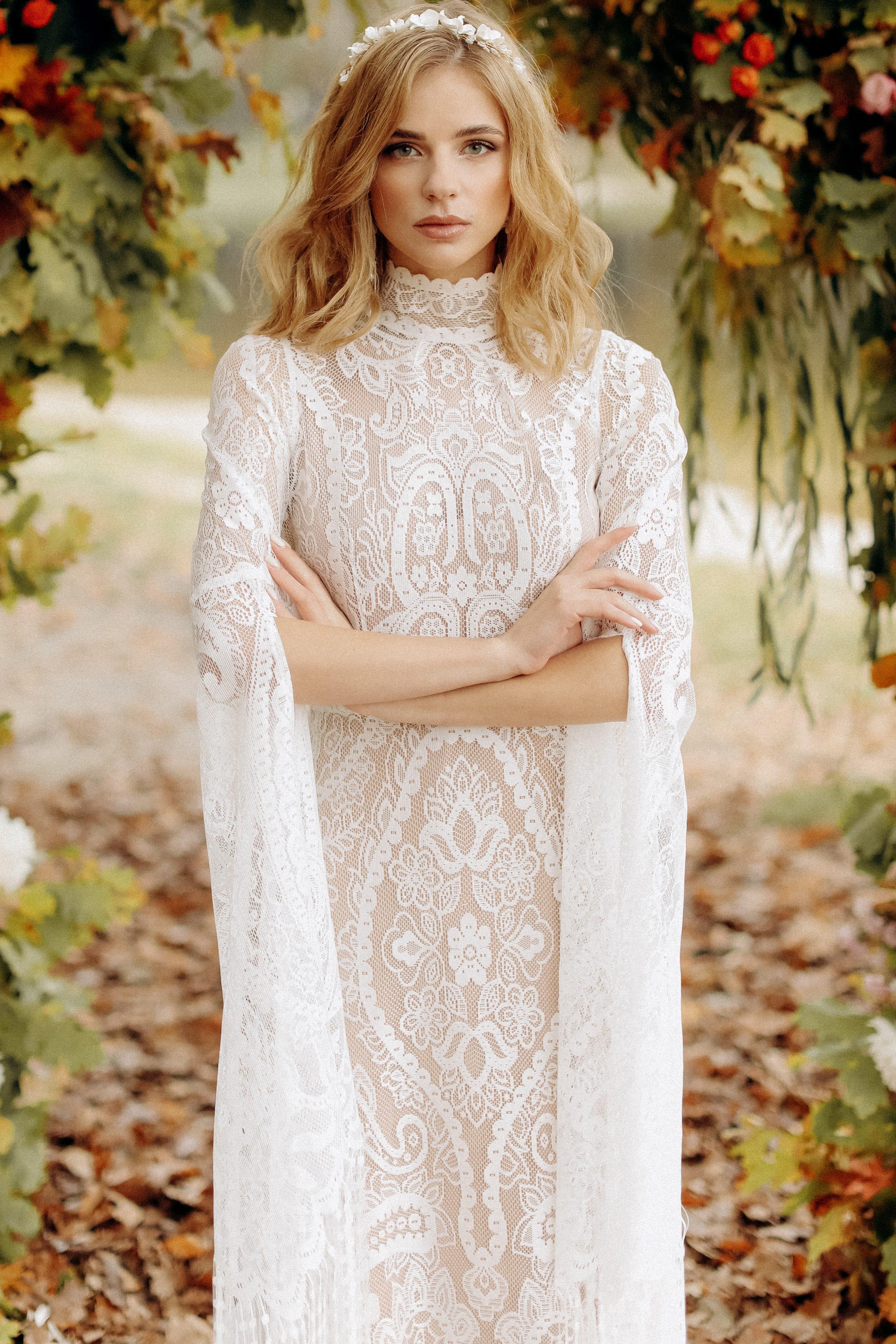 Свадебное платье «AUTUMN», коллекция «BOHEMIAM OF WILDLIFE», бренд «LORA SONG» №1