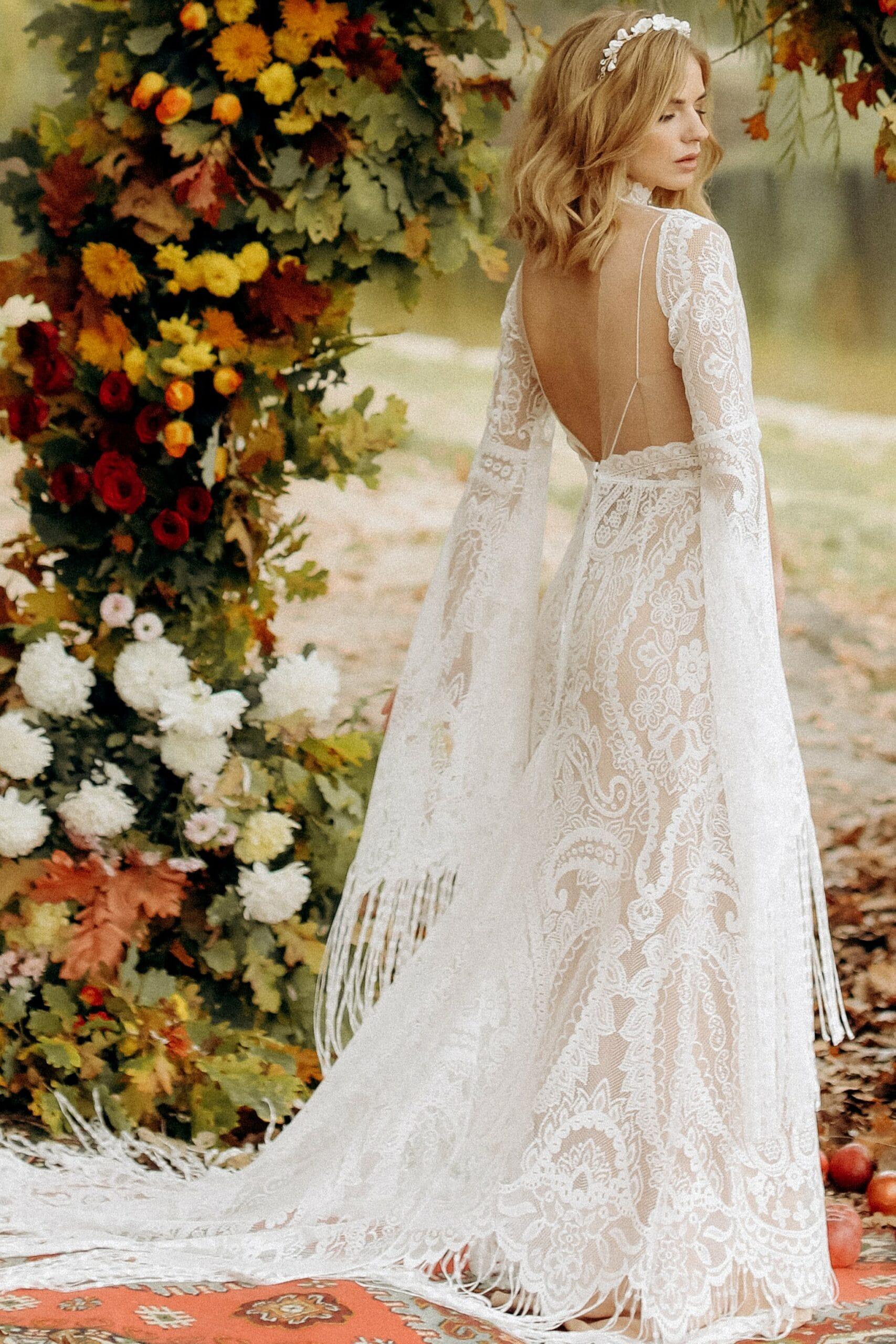 Свадебное платье «AUTUMN», коллекция «BOHEMIAM OF WILDLIFE», бренд «LORA SONG» №4