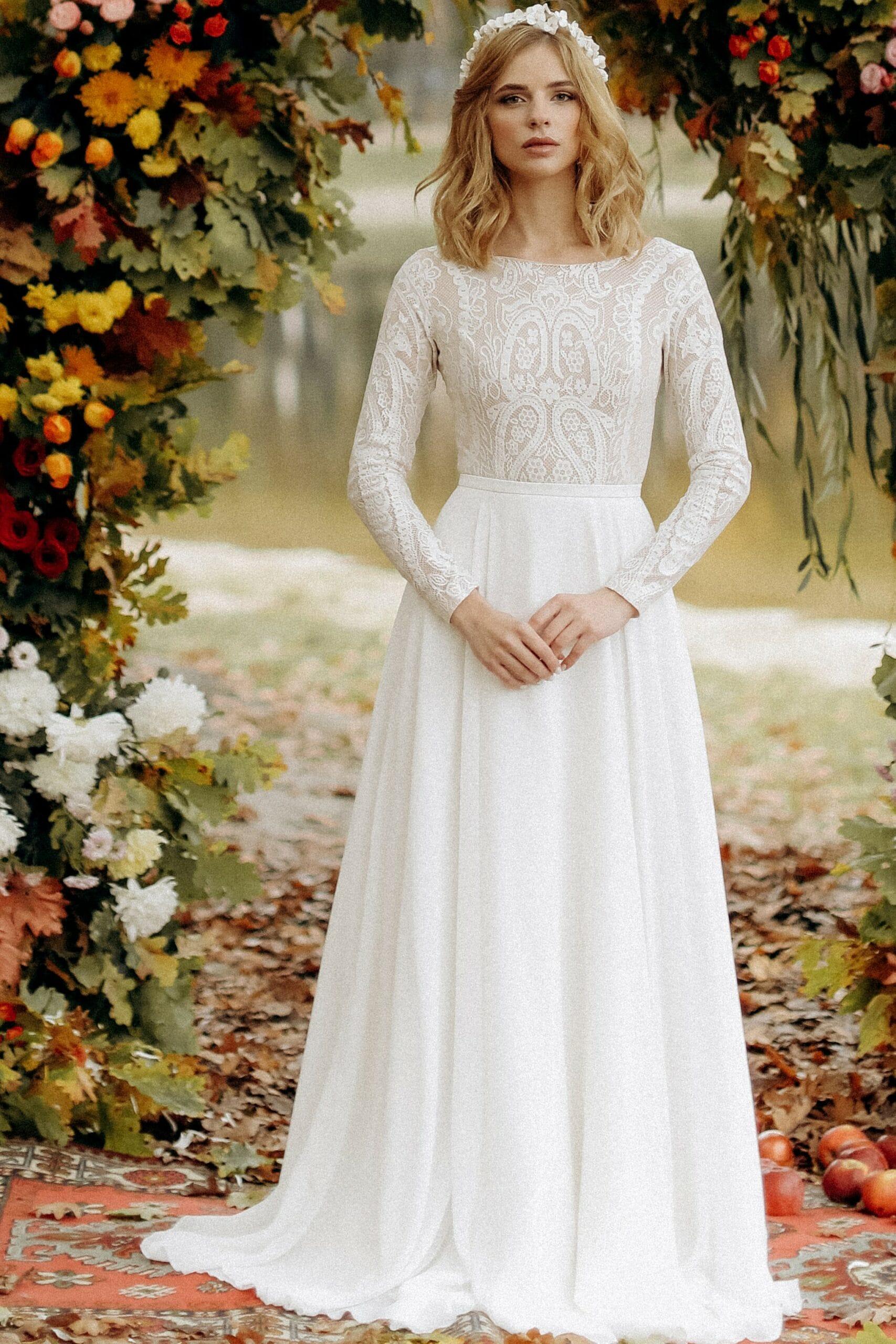 Свадебное платье «AURORA», коллекция «BOHEMIAM OF WILDLIFE», бренд»LORA SONG» №3
