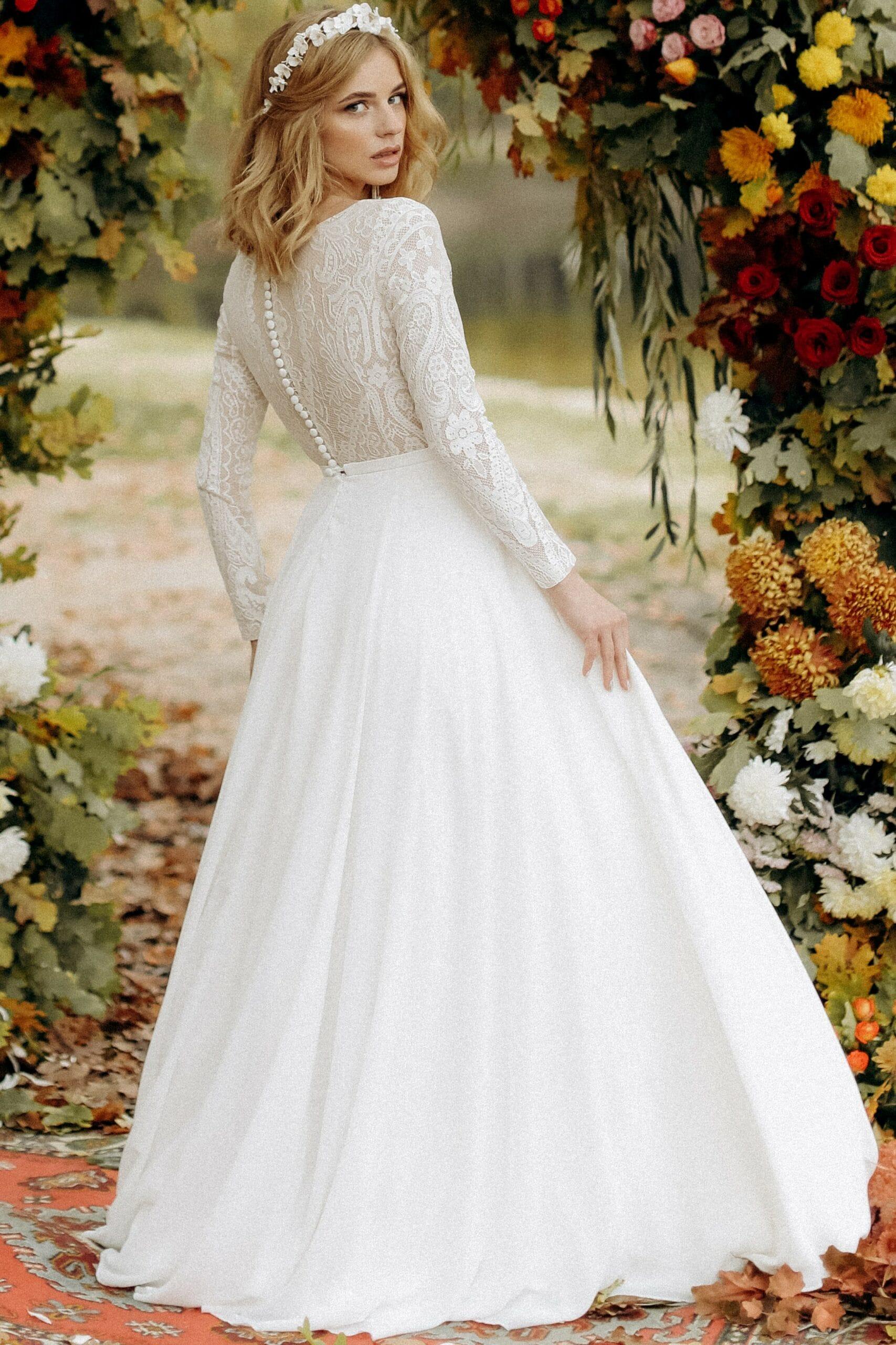 Свадебное платье «AURORA», коллекция «BOHEMIAM OF WILDLIFE», бренд»LORA SONG» №1