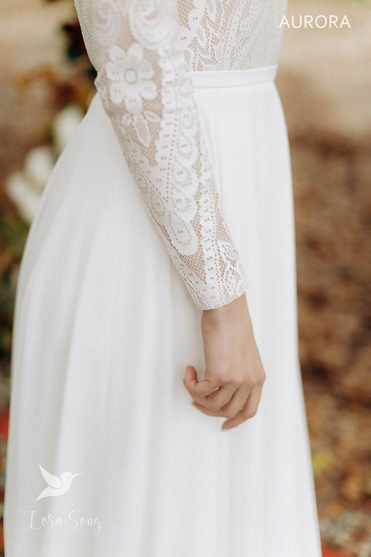 Свадебное платье «AURORA», коллекция «BOHEMIAM OF WILDLIFE», бренд»LORA SONG» №5