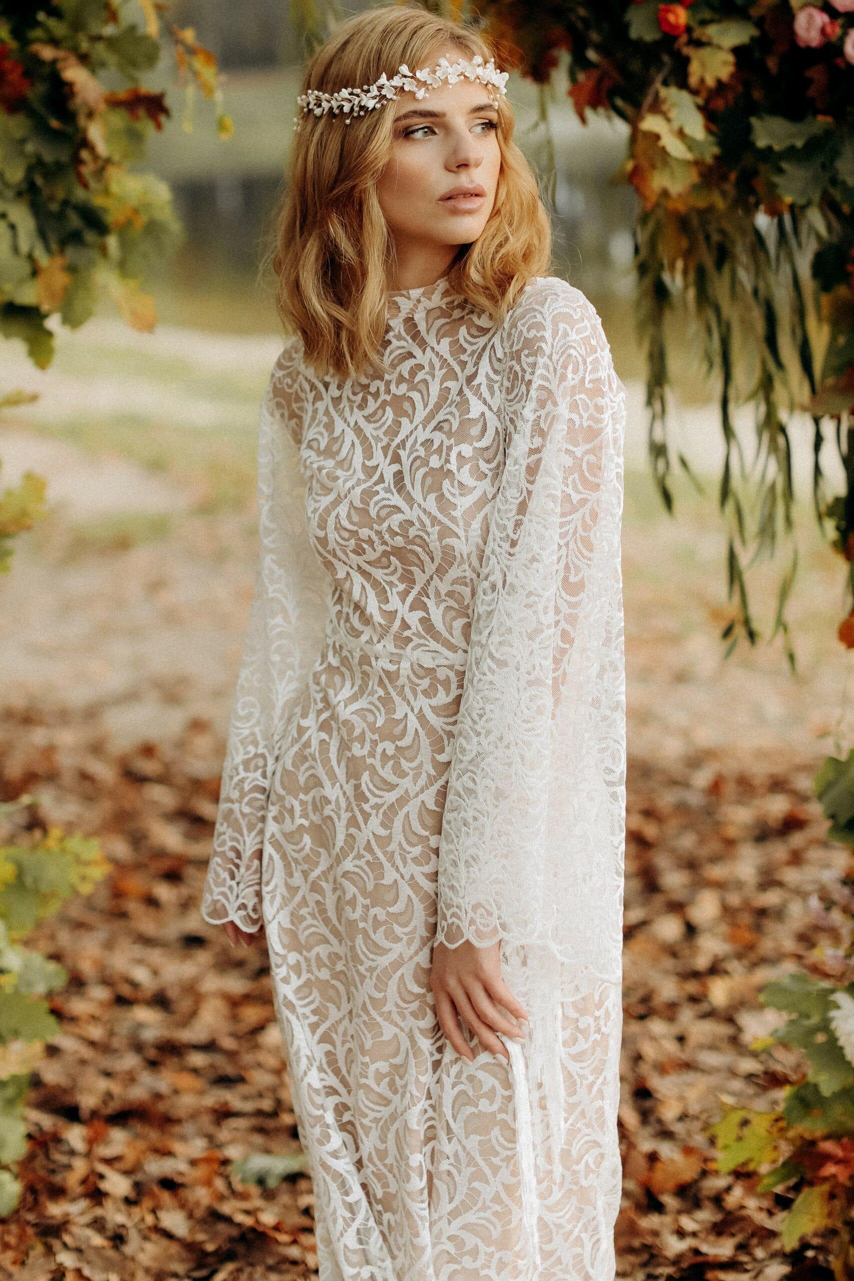 Свадебное платье «DELIA», коллекция «BOHEMIAM OF WILDLIFE», бренд «LORA SONG» №1