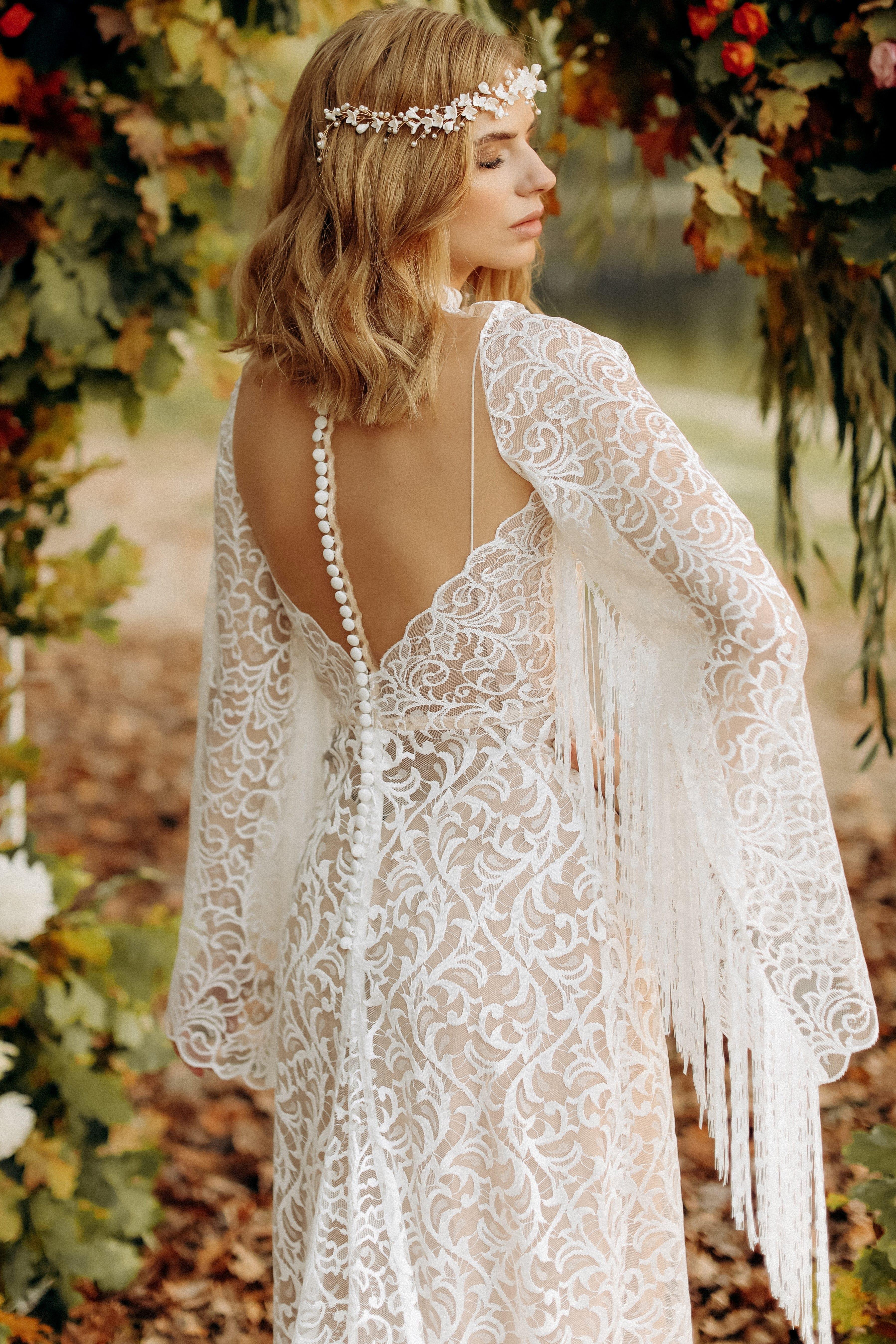 Свадебное платье «DELIA», коллекция «BOHEMIAM OF WILDLIFE», бренд «LORA SONG» №2