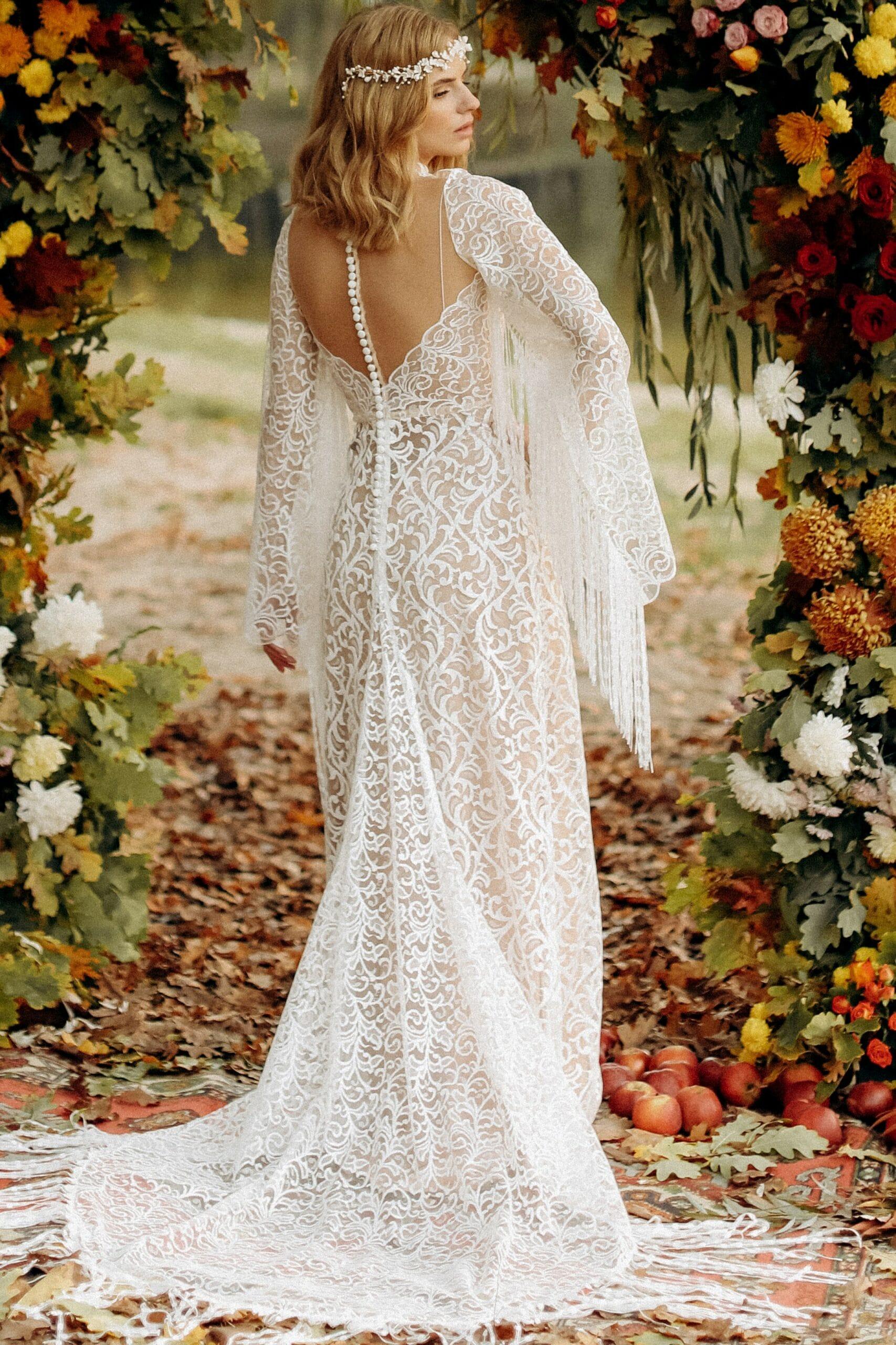 Свадебное платье «DELIA», коллекция «BOHEMIAM OF WILDLIFE», бренд «LORA SONG» №3