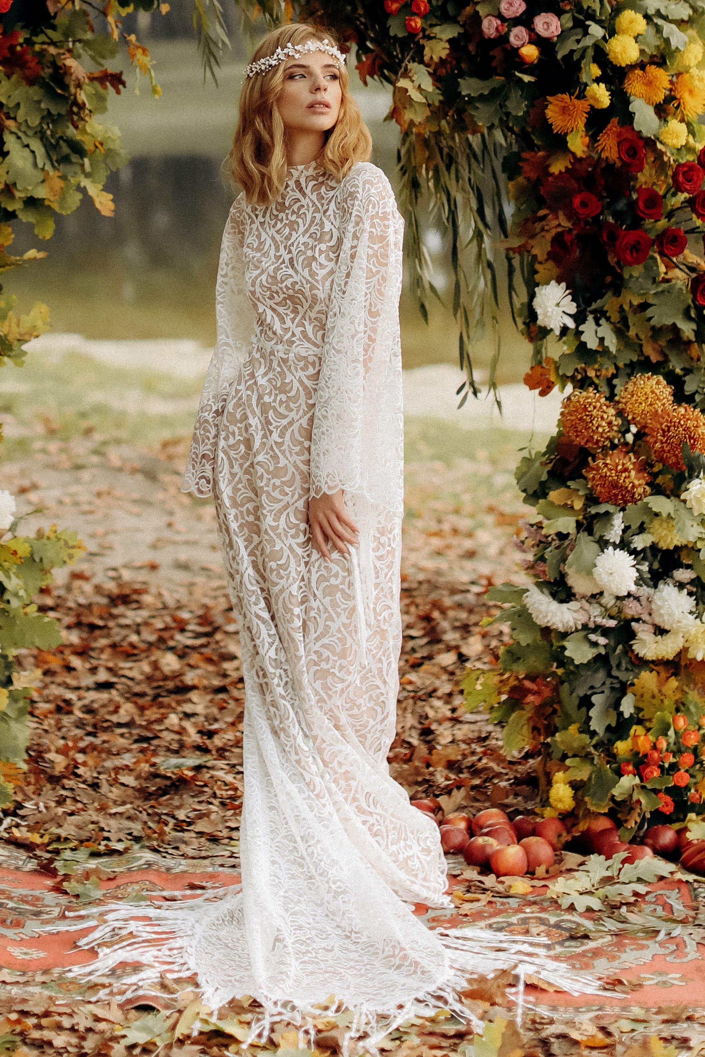 Свадебное платье «DELIA», коллекция «BOHEMIAM OF WILDLIFE», бренд «LORA SONG» №4