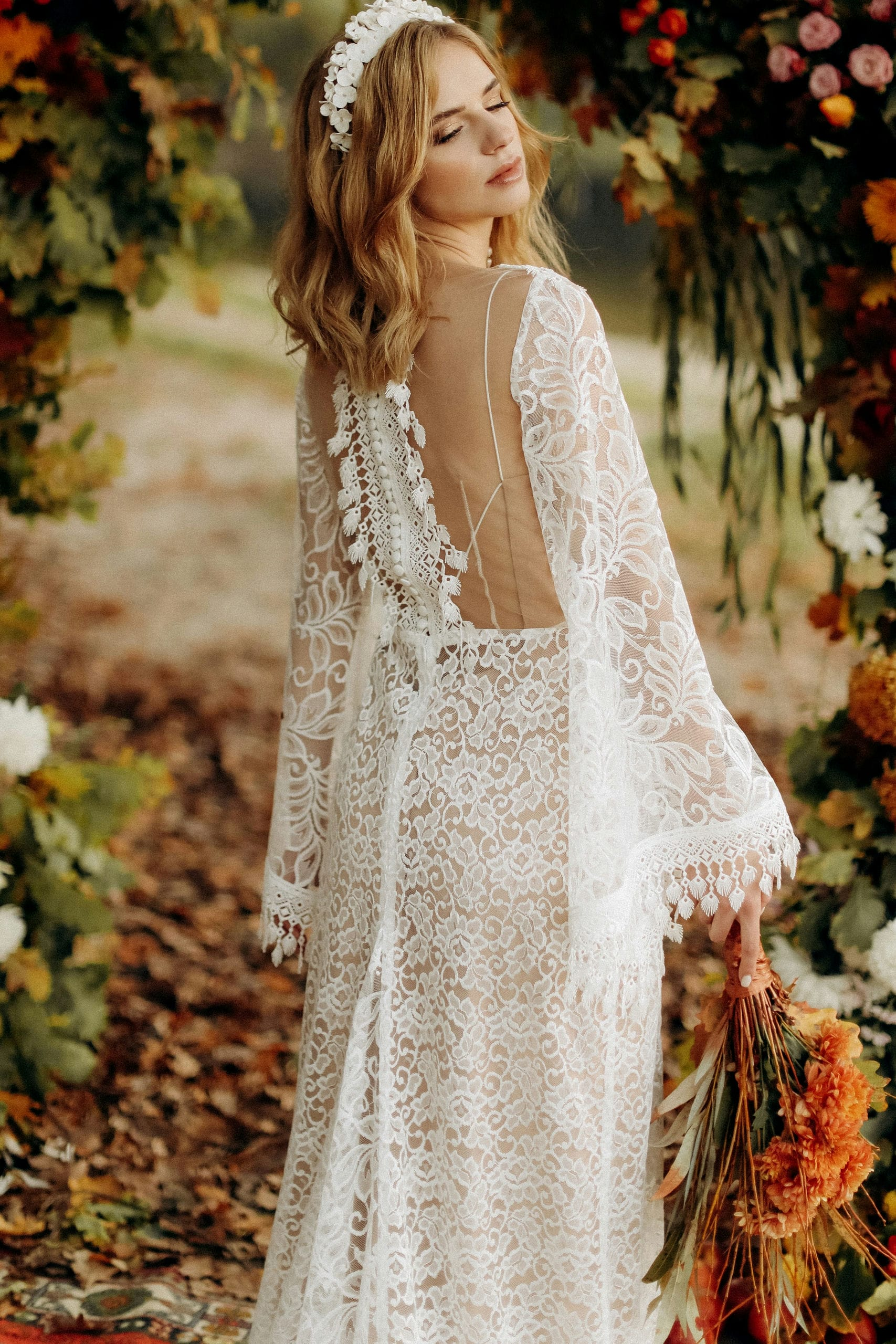 Свадебное платье «HANNA», коллекция «BOHEMIAM OF WILDLIFE», бренд «LORA SONG» №2