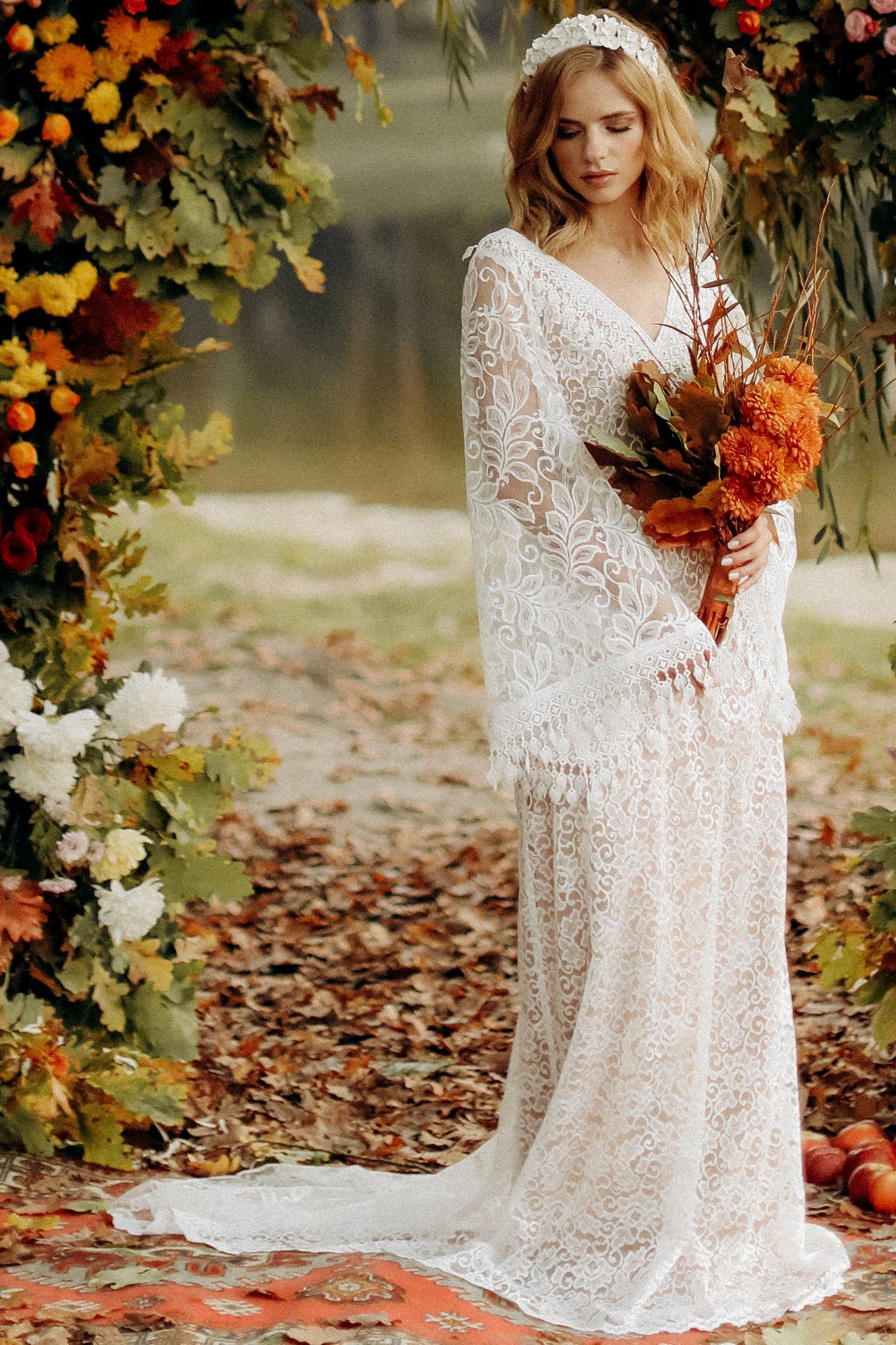 Свадебное платье «HANNA», коллекция «BOHEMIAM OF WILDLIFE», бренд «LORA SONG» №4
