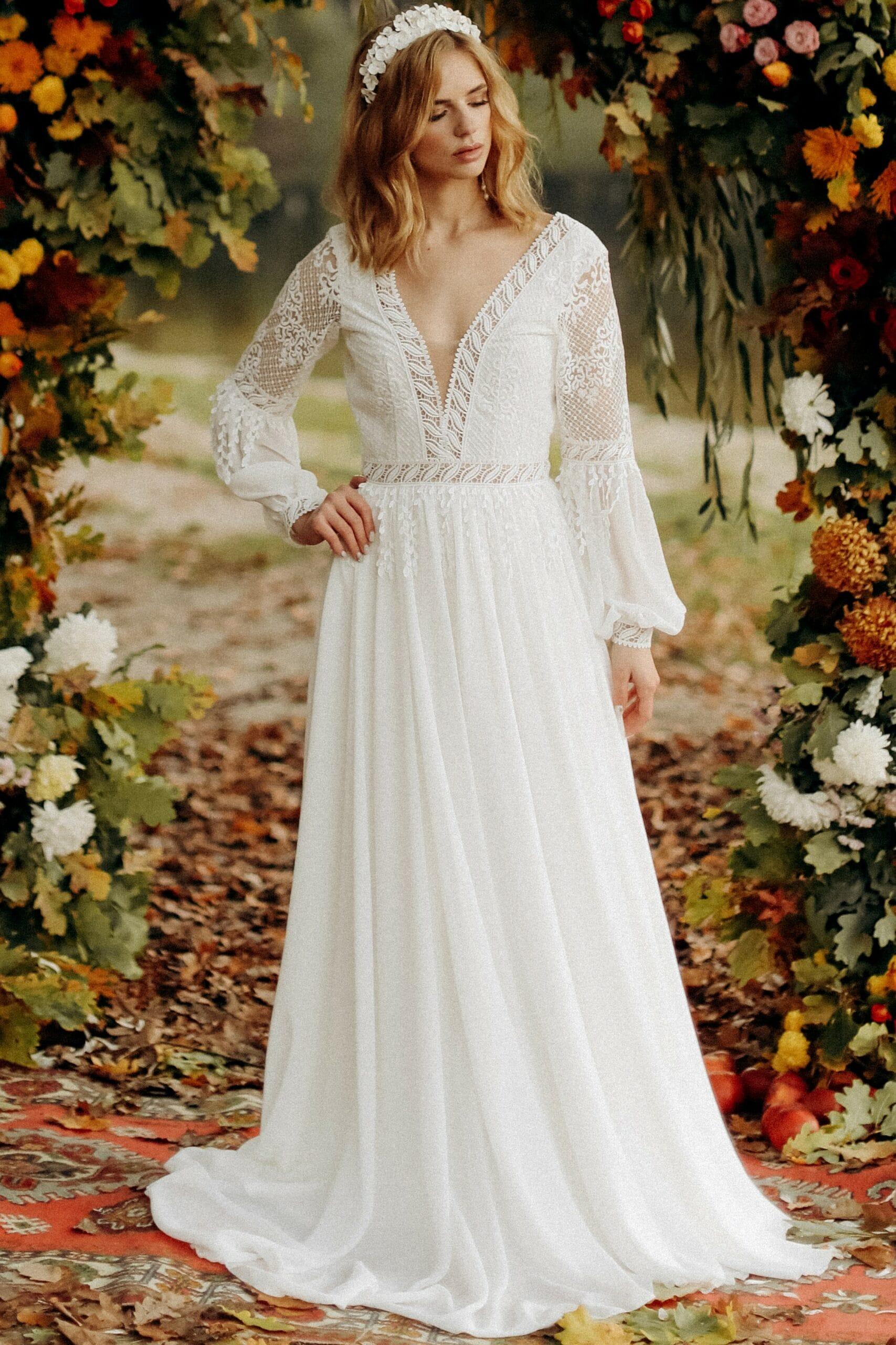 Свадебное платье «GIA», коллекция «BOHEMIAM OF WILDLIFE», бренд «LORA SONG» №3