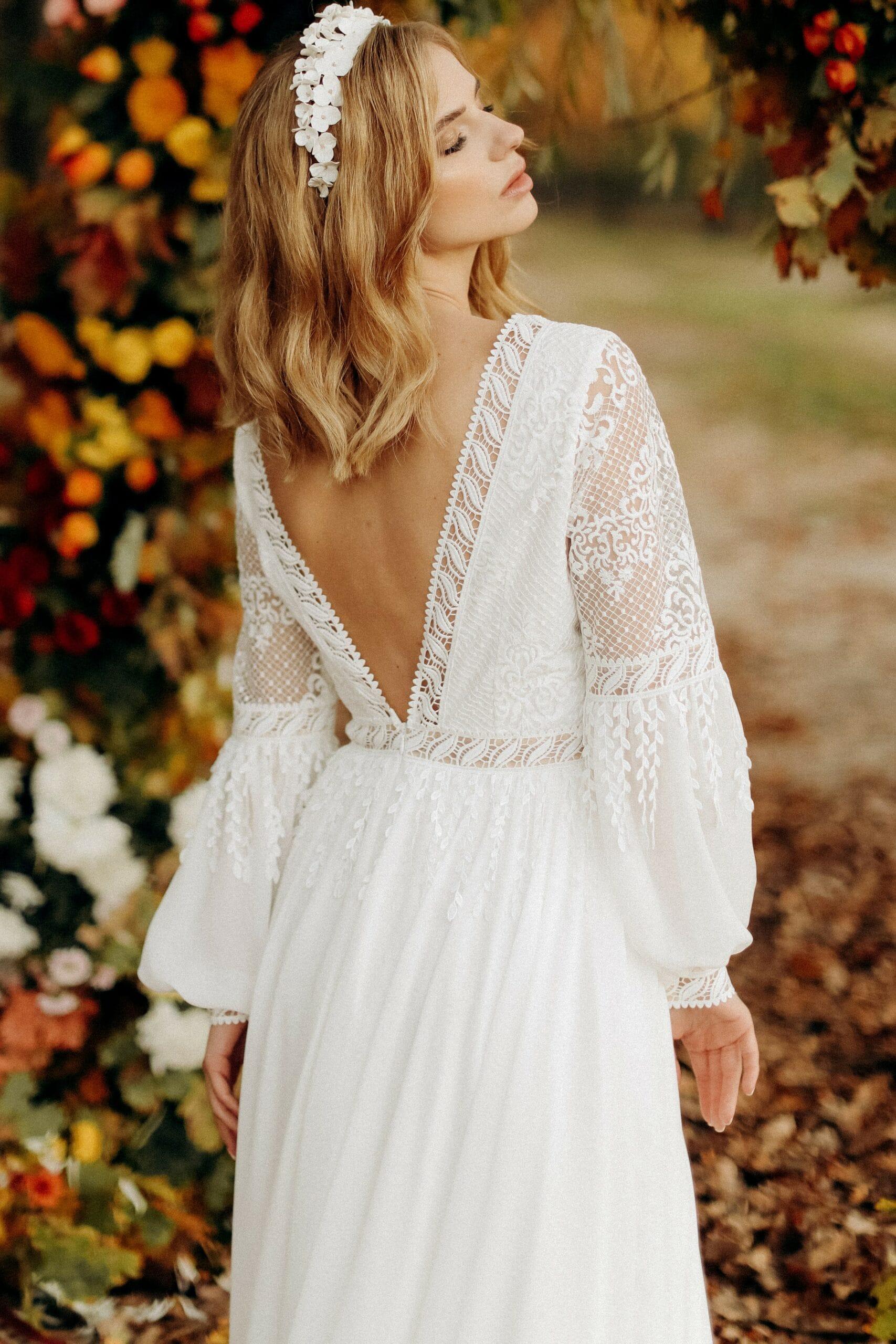 Свадебное платье «GIA», коллекция «BOHEMIAM OF WILDLIFE», бренд»LORA SONG» №4