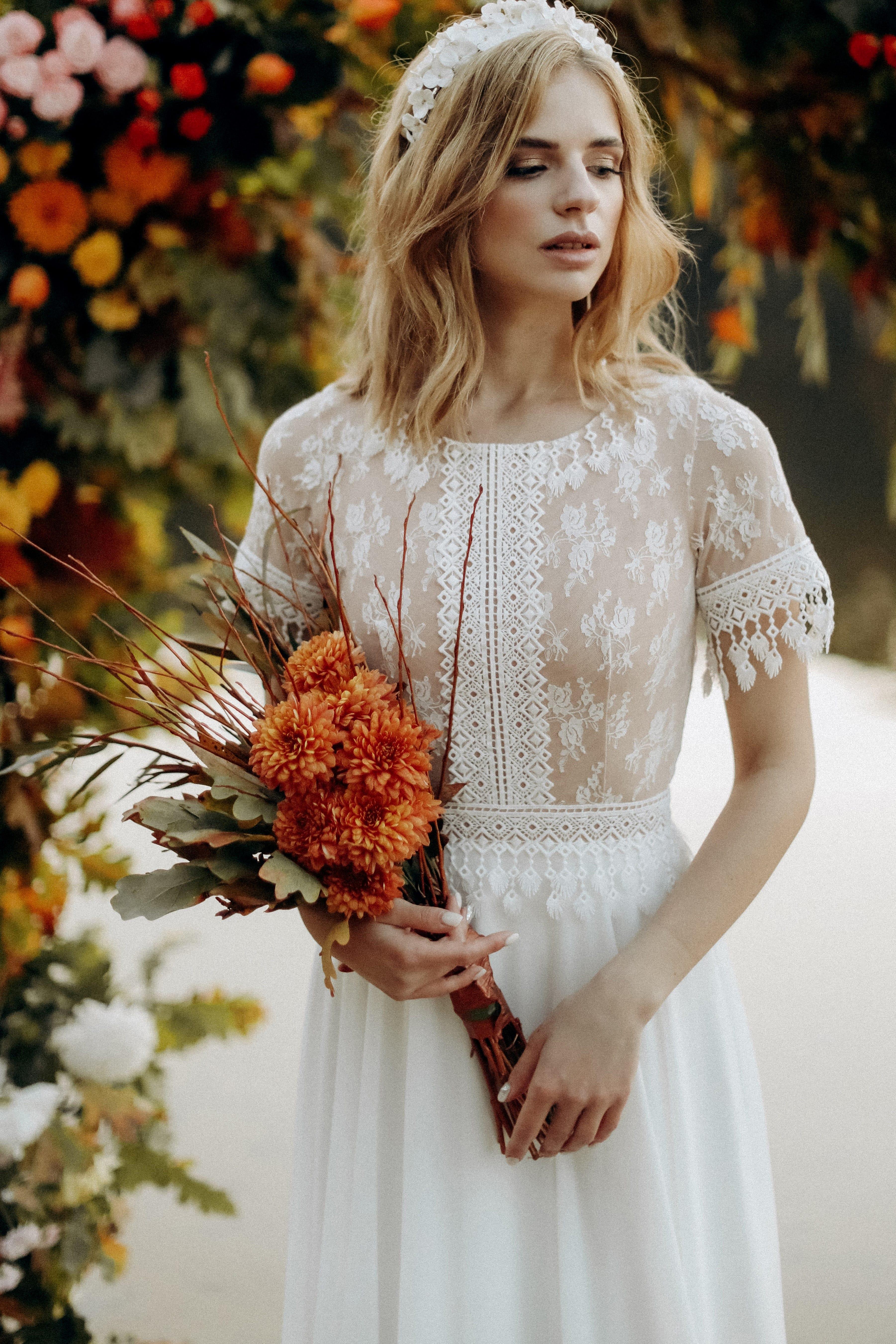 Свадебное платье «KORIN», коллекция «BOHEMIAM OF WILDLIFE», бренд»LORA SONG» №1