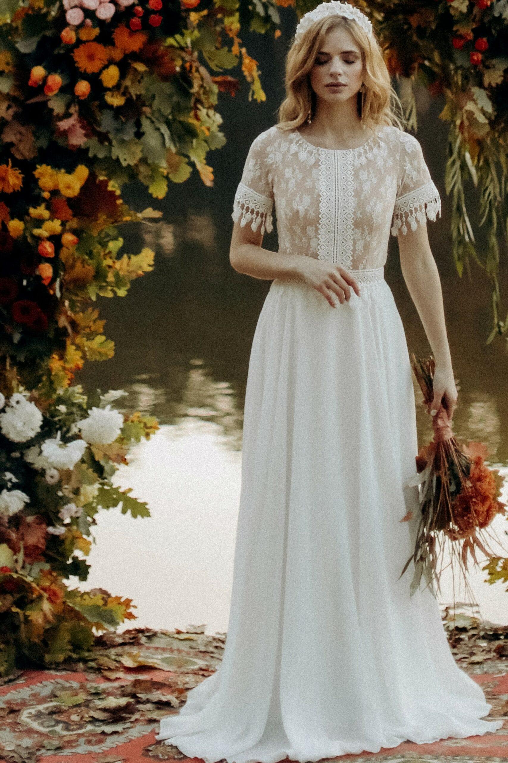 Свадебное платье «KORIN», коллекция «BOHEMIAM OF WILDLIFE», бренд»LORA SONG» №3