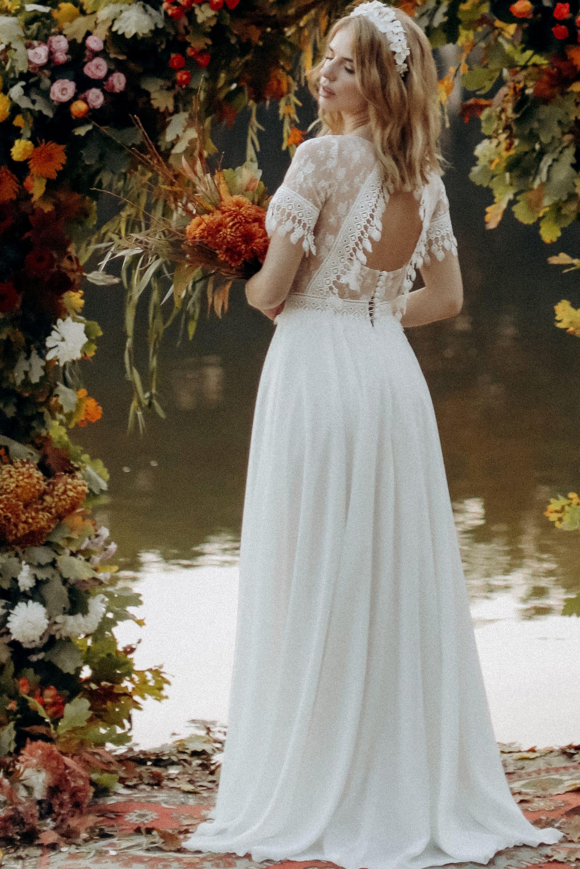 Свадебное платье «KORIN», коллекция «BOHEMIAM OF WILDLIFE», бренд»LORA SONG» №4