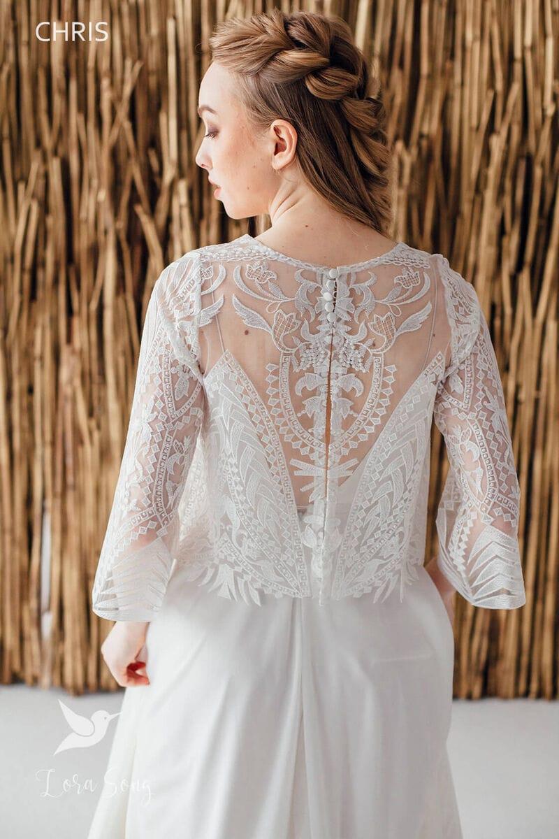 Свадебное платье CHRIS, коллекция MAGIC OF TENDERNESS, бренд LORA SONG, фото 4