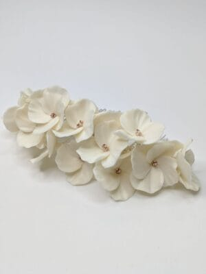 Большой свадебный гребень с белыми цветами, артикул 34078002, фото 1