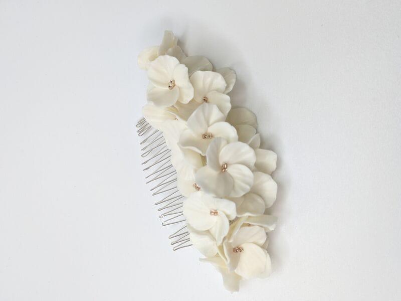 Большой свадебный гребень с белыми цветами, артикул 34078002, фото 3