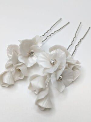 Набор (2 шт.) цветочных перламутровых шпилек ручной работы, артикул 34079002, фото 1