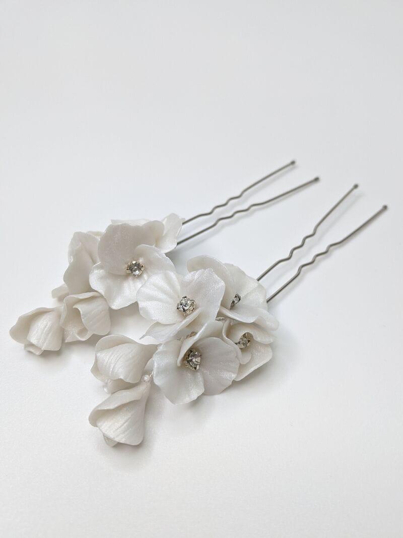 Набор (2 шт.) цветочных перламутровых шпилек ручной работы, артикул 34079002, фото 3