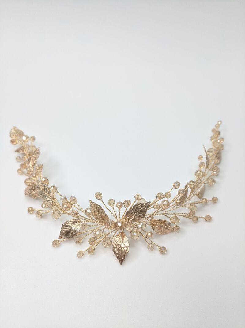 Дизайнерское золотое свадебное украшение, артикул 34089002, фото №3