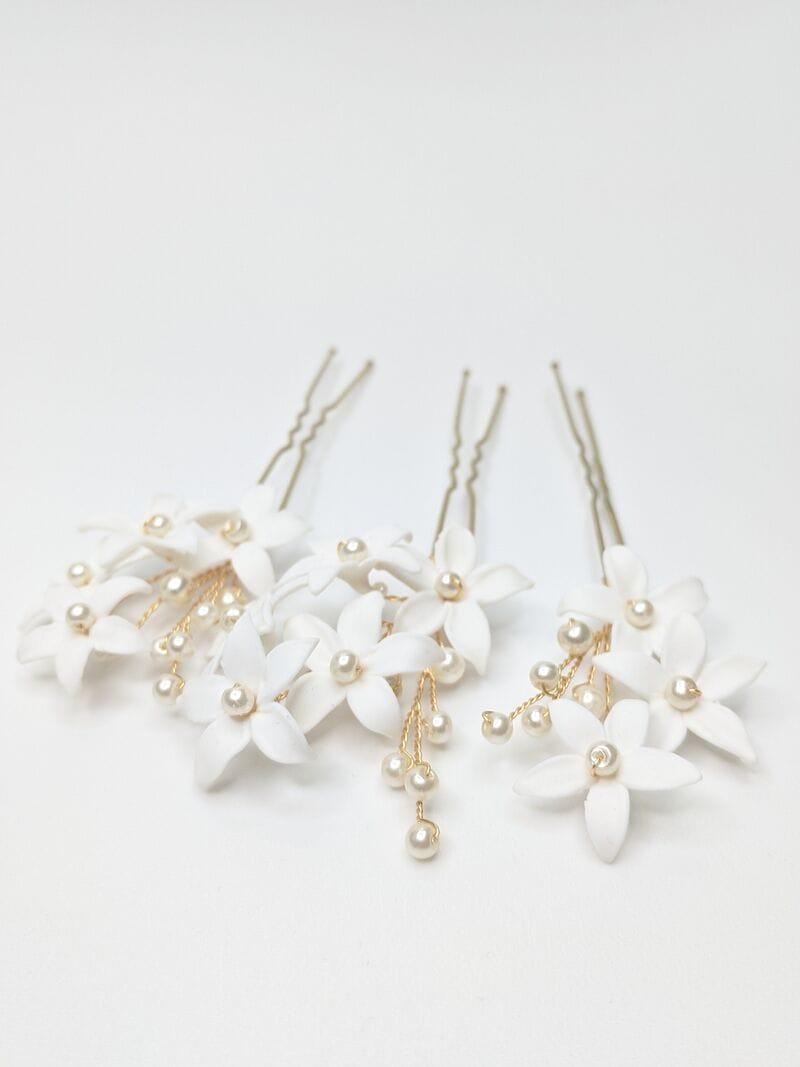 Набор свадебных шпилек с цветами (3), артикул 34093002, фото 3