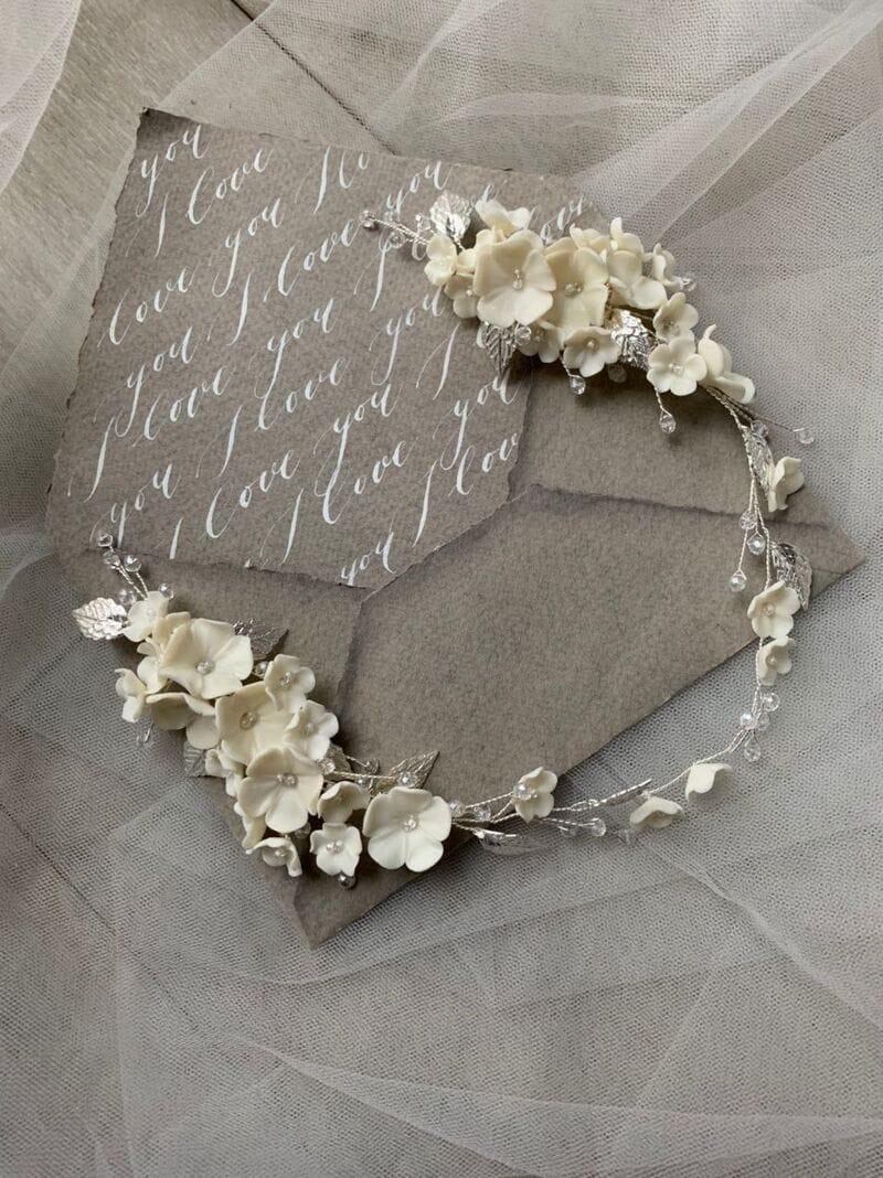 Дизайнерское свадебное украшение с цветами, артикул 34097003, фото №5