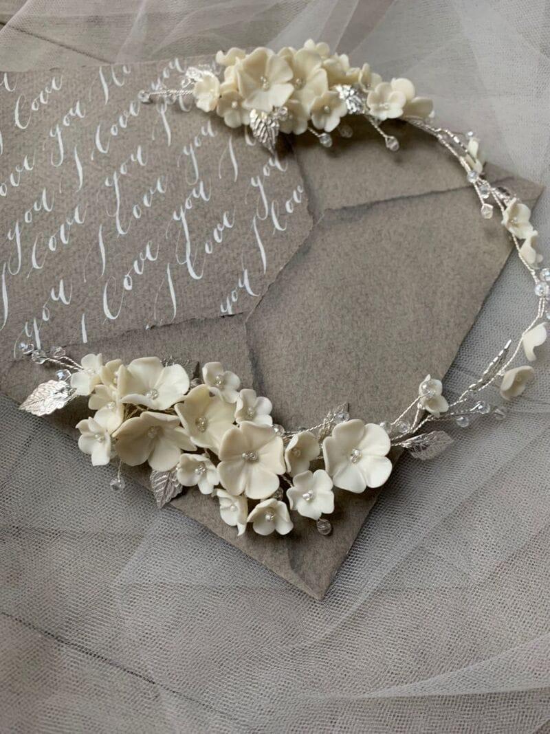 Дизайнерское свадебное украшение с цветами, артикул 34097003, фото №6