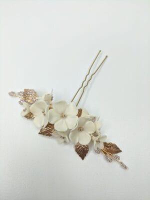 Набор (2 шт.) цветочных шпилек в золоте, артикул 34099003, фото 1