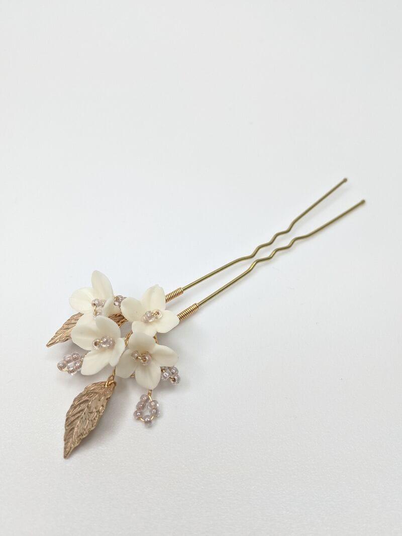 Набор (2 шт.) цветочных шпилек в золоте, артикул 34099003, фото 2