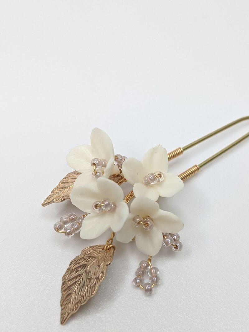 Набор (2 шт.) цветочных шпилек в золоте, артикул 34099003, фото 3
