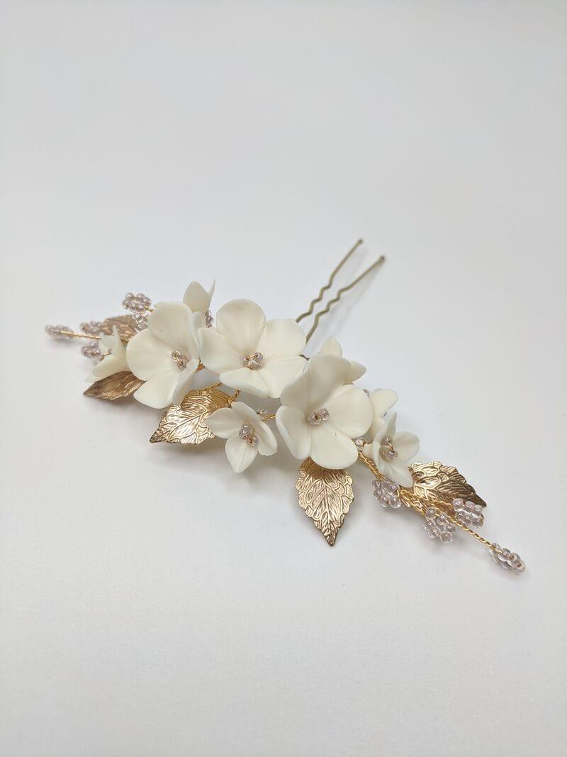 Набор (2 шт.) цветочных шпилек в золоте, артикул 34099003, фото 4