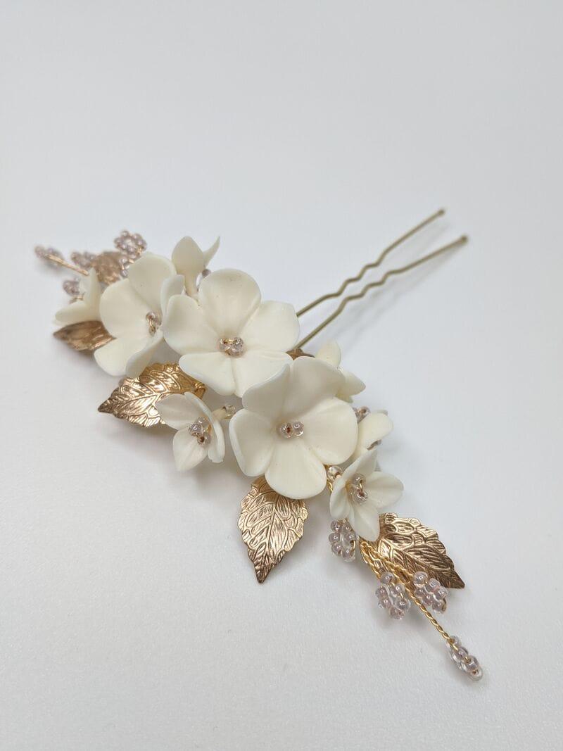 Набор (2 шт.) цветочных шпилек в золоте, артикул 34099003, фото 6