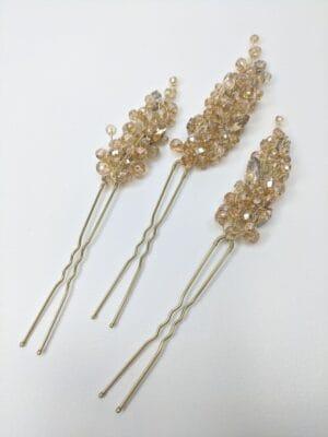 Набор золотистых шпилек для волос (3), артикул 34180003, фото 1