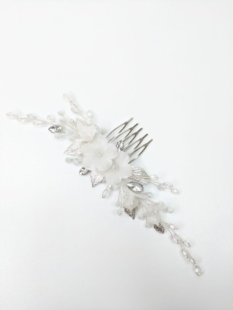 Свадебный гребень для волос с цветами, артикул 34270003, фото №1