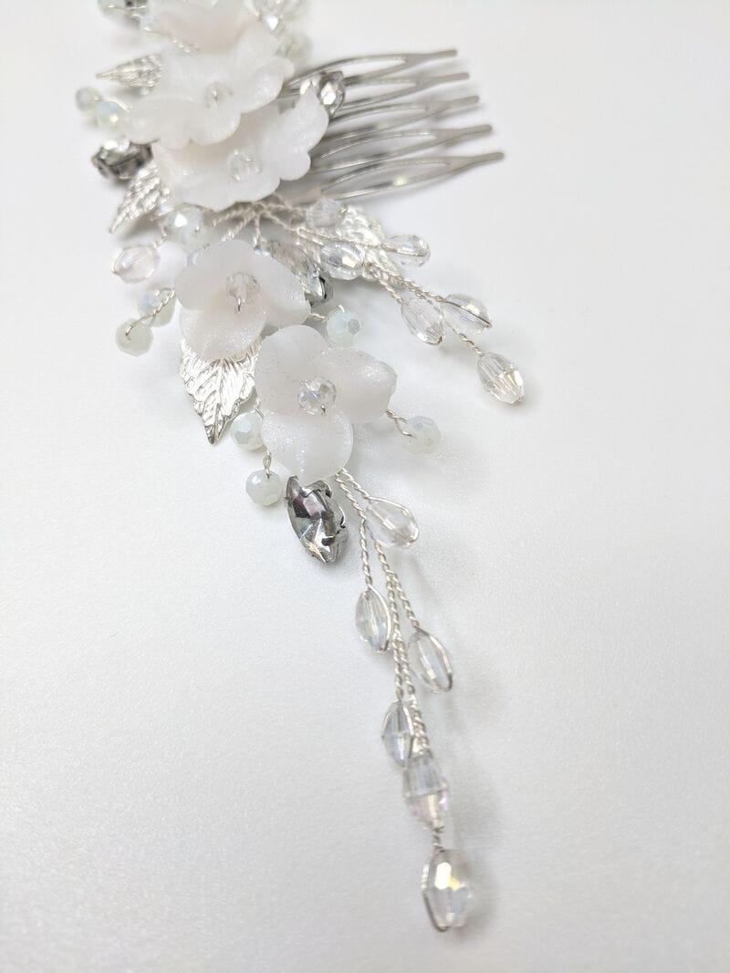 Свадебный гребень для волос с цветами, артикул 34270003, фото №2