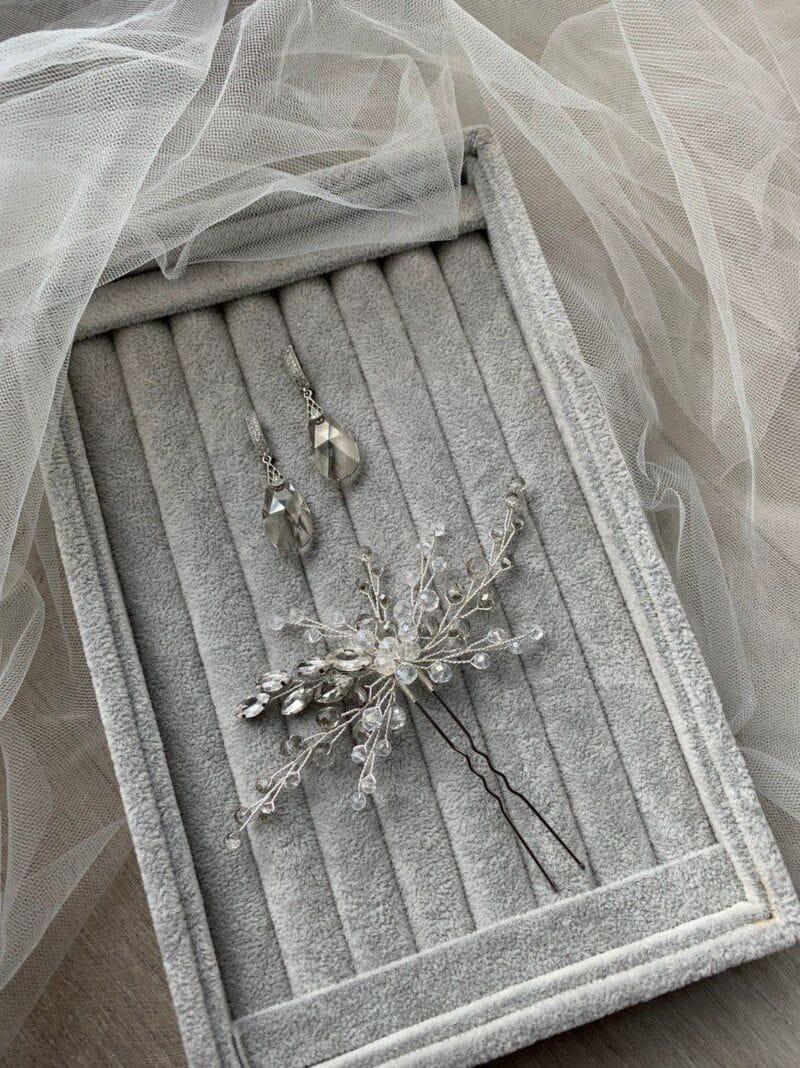 Набор украшений «Серьги с кристаллами и шпилька», артикул 34290003, фото 4