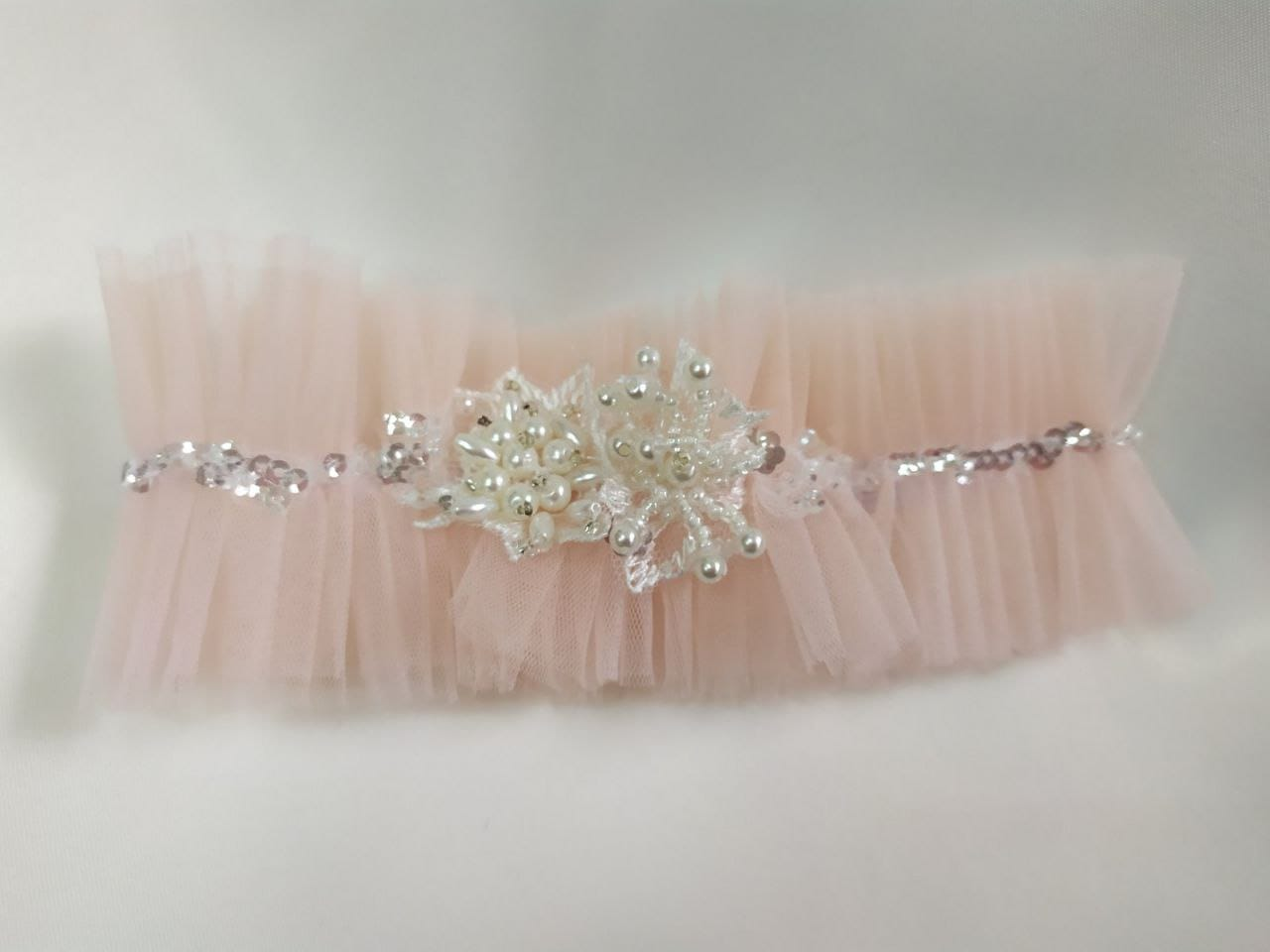 Розовая свадебная подвязка, артикул 36400003, фото №4