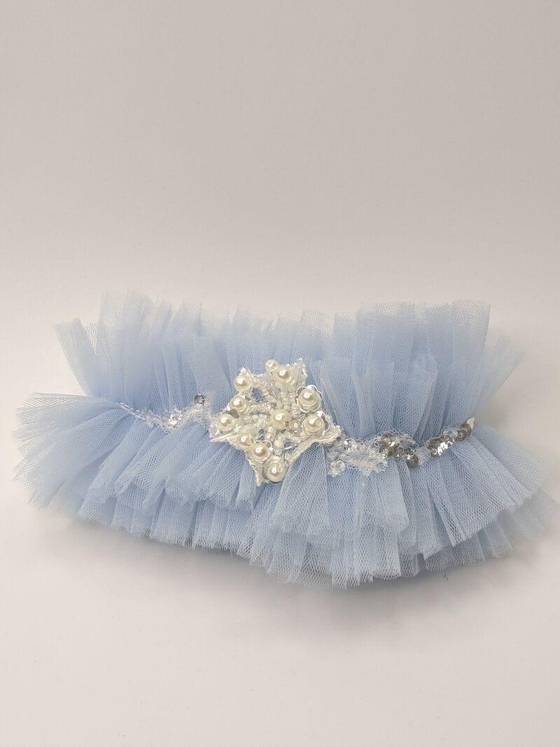 Синяя свадебная подвязка, артикул 36500003, фото №1