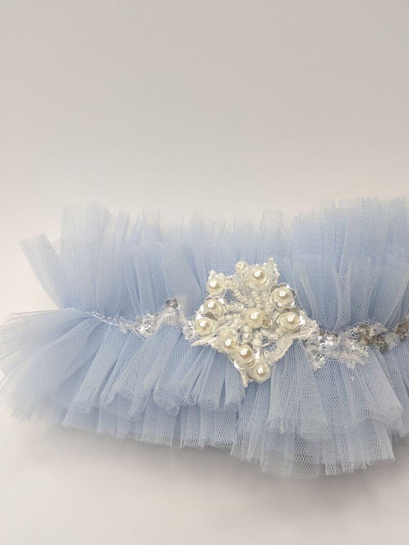 Синяя свадебная подвязка, артикул 36500003, фото №2
