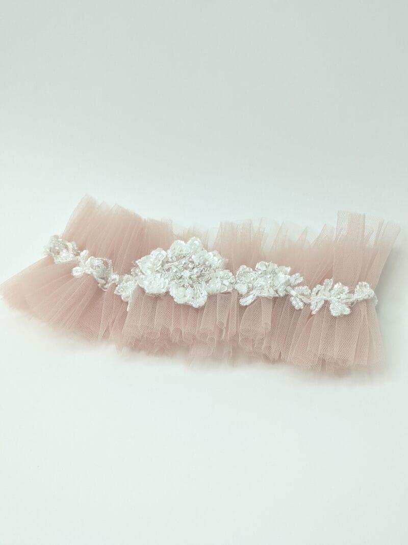Свадебная подвязка с украшением, артикул 36600003, фото №4