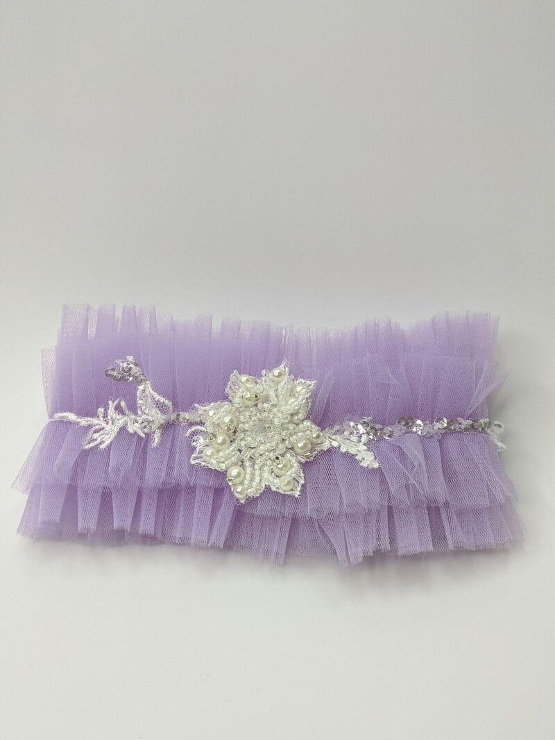 Фиолетовая свадебная подвязка для ног, Артикул 36700003, фото №1