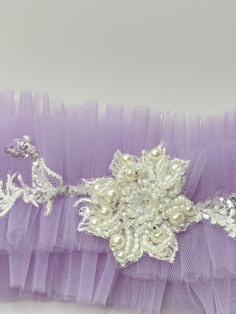 Фиолетовая свадебная подвязка для ног, Артикул 36700003, фото №2
