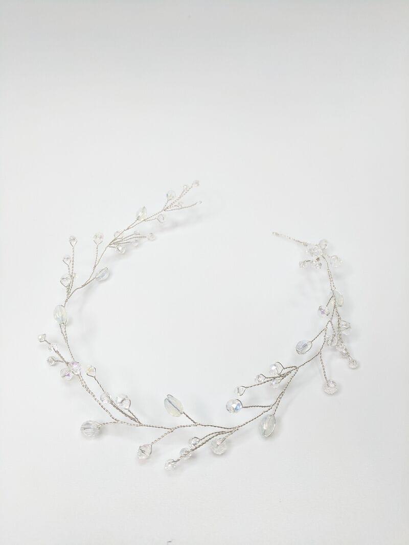 Серебряная свадебная веточка с опалами, артикул 5628019, фото №3
