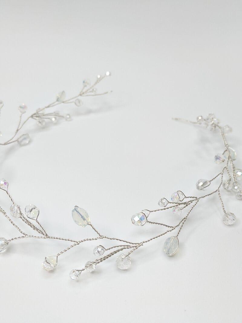 Серебряная свадебная веточка с опалами, артикул 5628019, фото №2