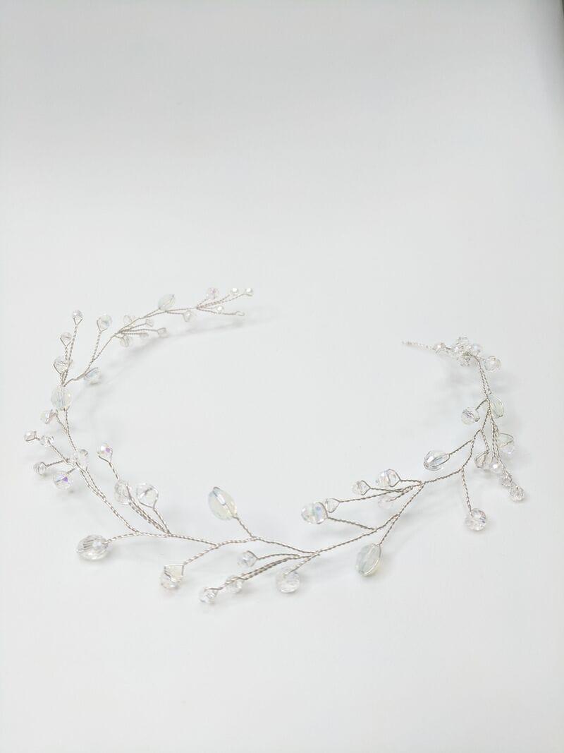 Серебряная свадебная веточка с опалами, артикул 5628019, фото №1