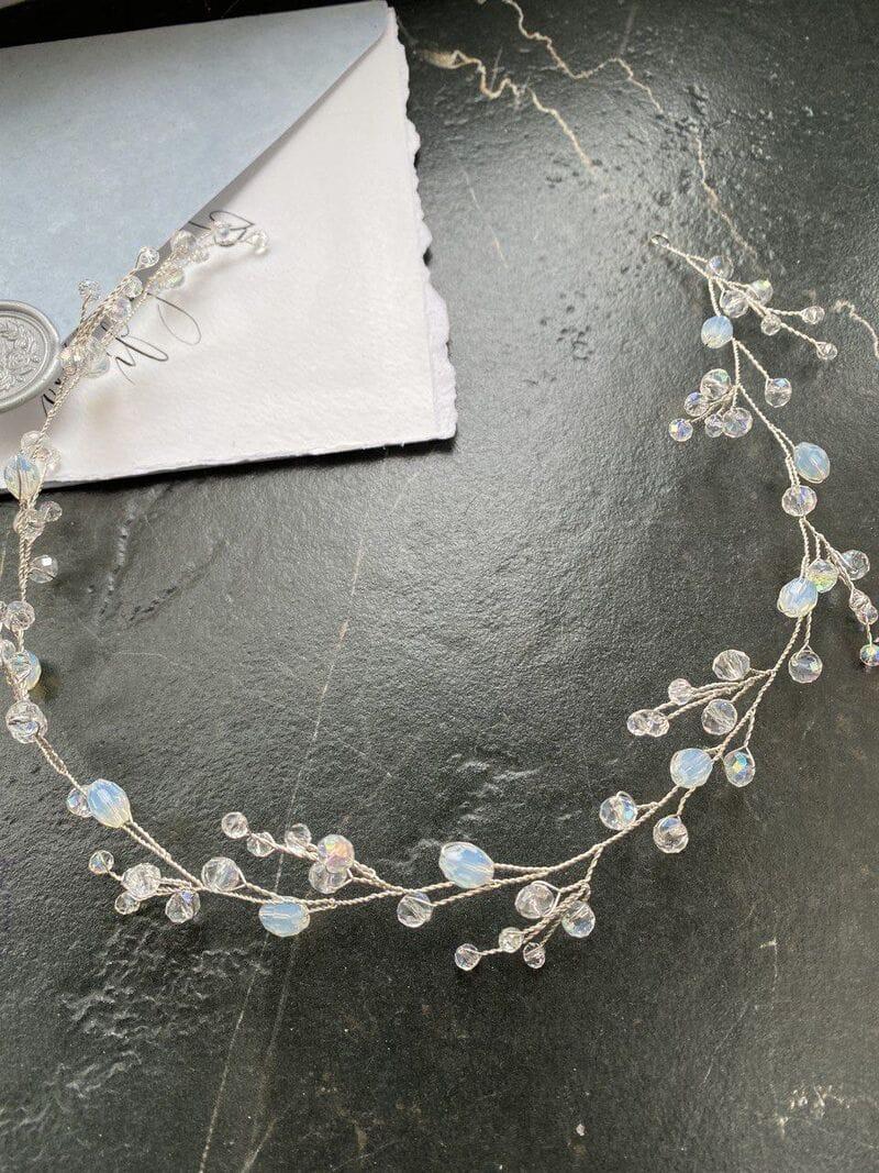 Серебряная свадебная веточка с опалами, артикул 5628019, фото №5
