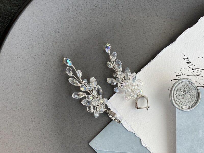 Свадебные серьги ручной работы «Флориан», артикул 5633026, фото 4