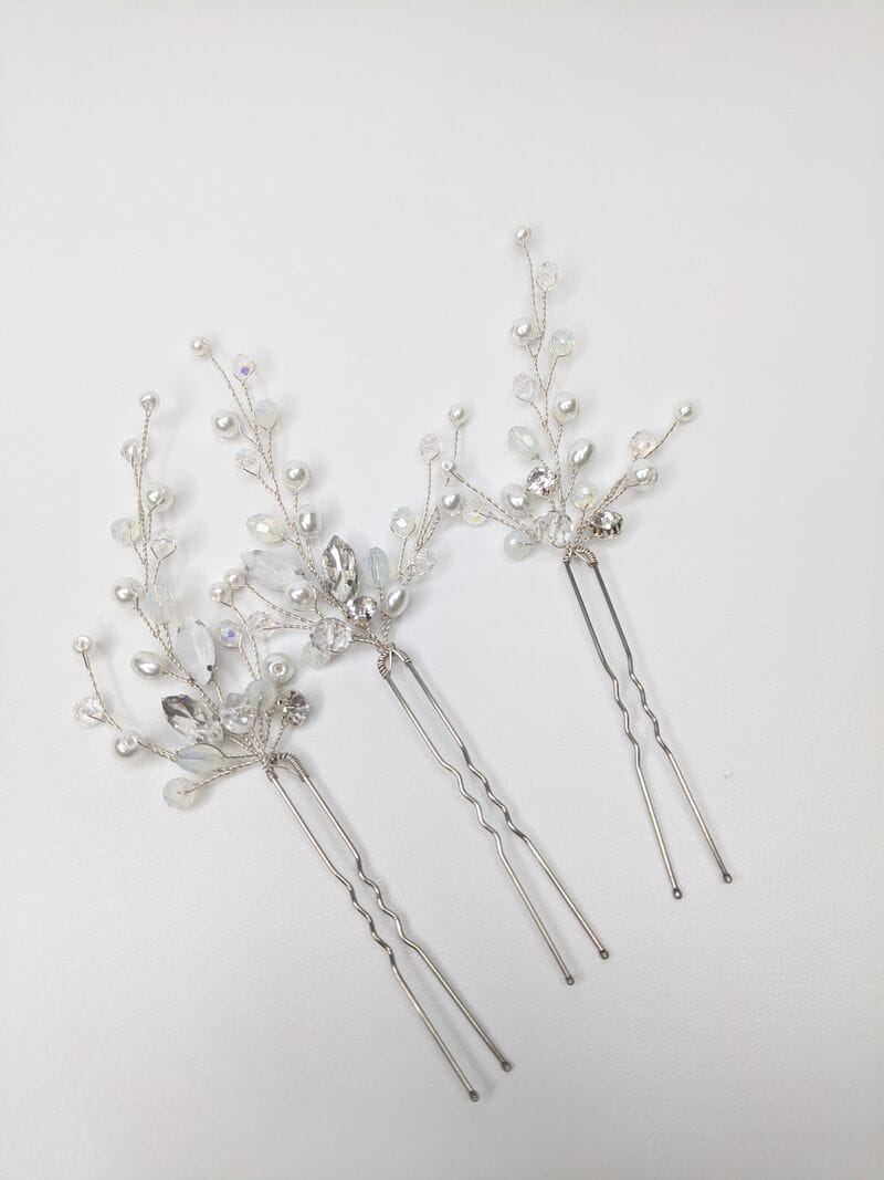 Набор свадебных шпилек «Голубой опал», артикул 5635013, фото 4