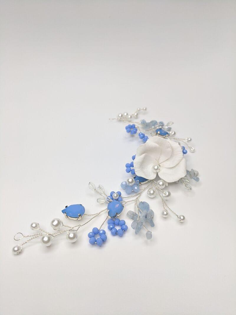 Свадебное украшение голубой опал, артикул 5638020, фото №2