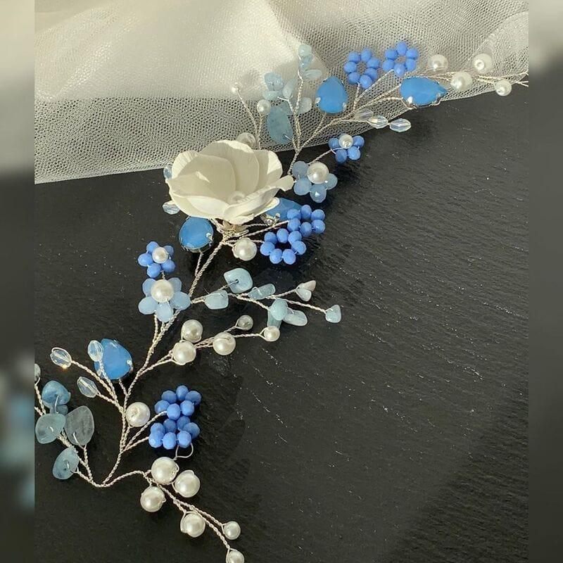 Свадебное украшение голубой опал, артикул 5638020, фото №4