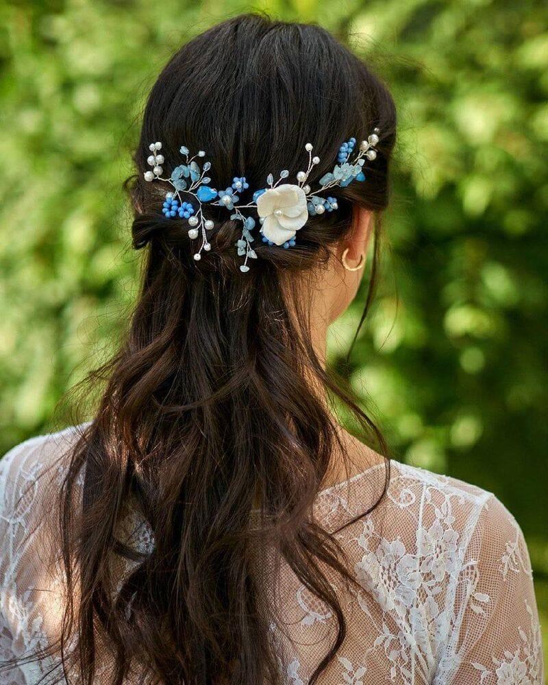 Свадебное украшение голубой опал, артикул 5638020, фото №5