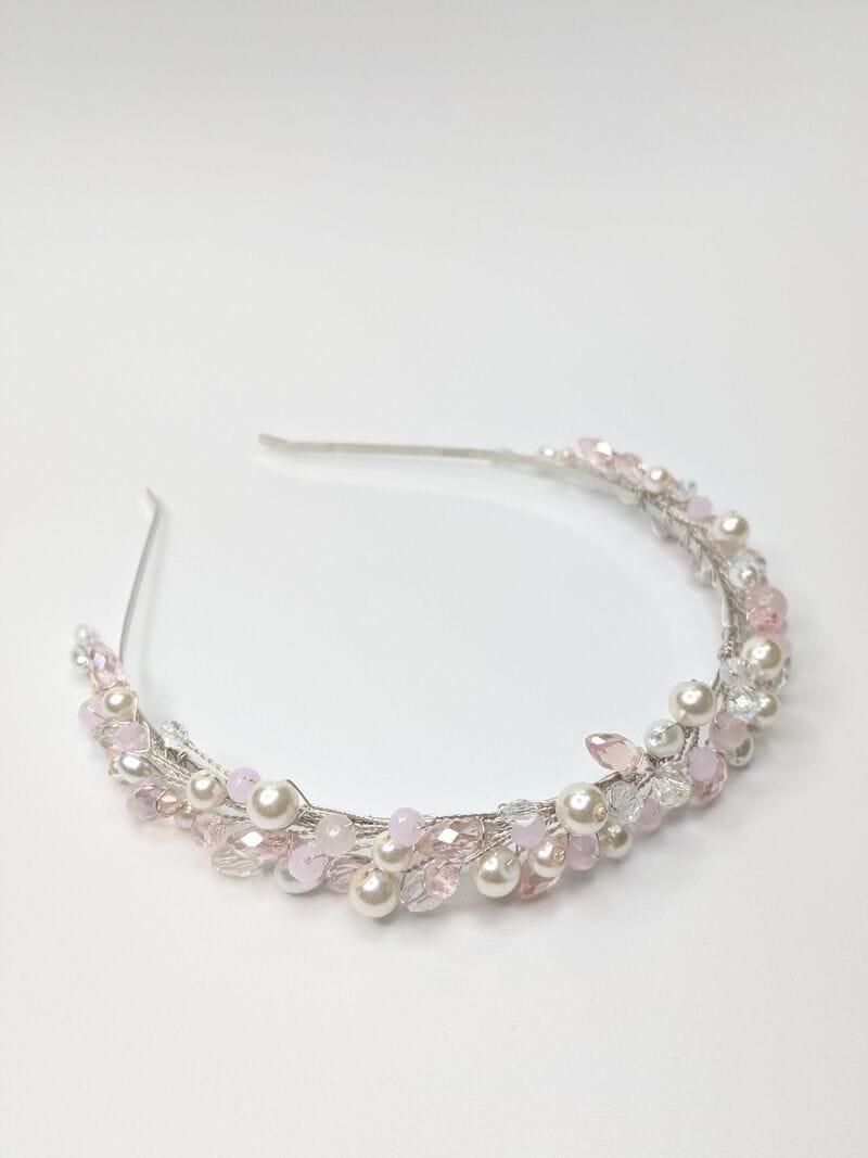 Свадебный ободок с розовым опалом, артикул 5638032, фото №2